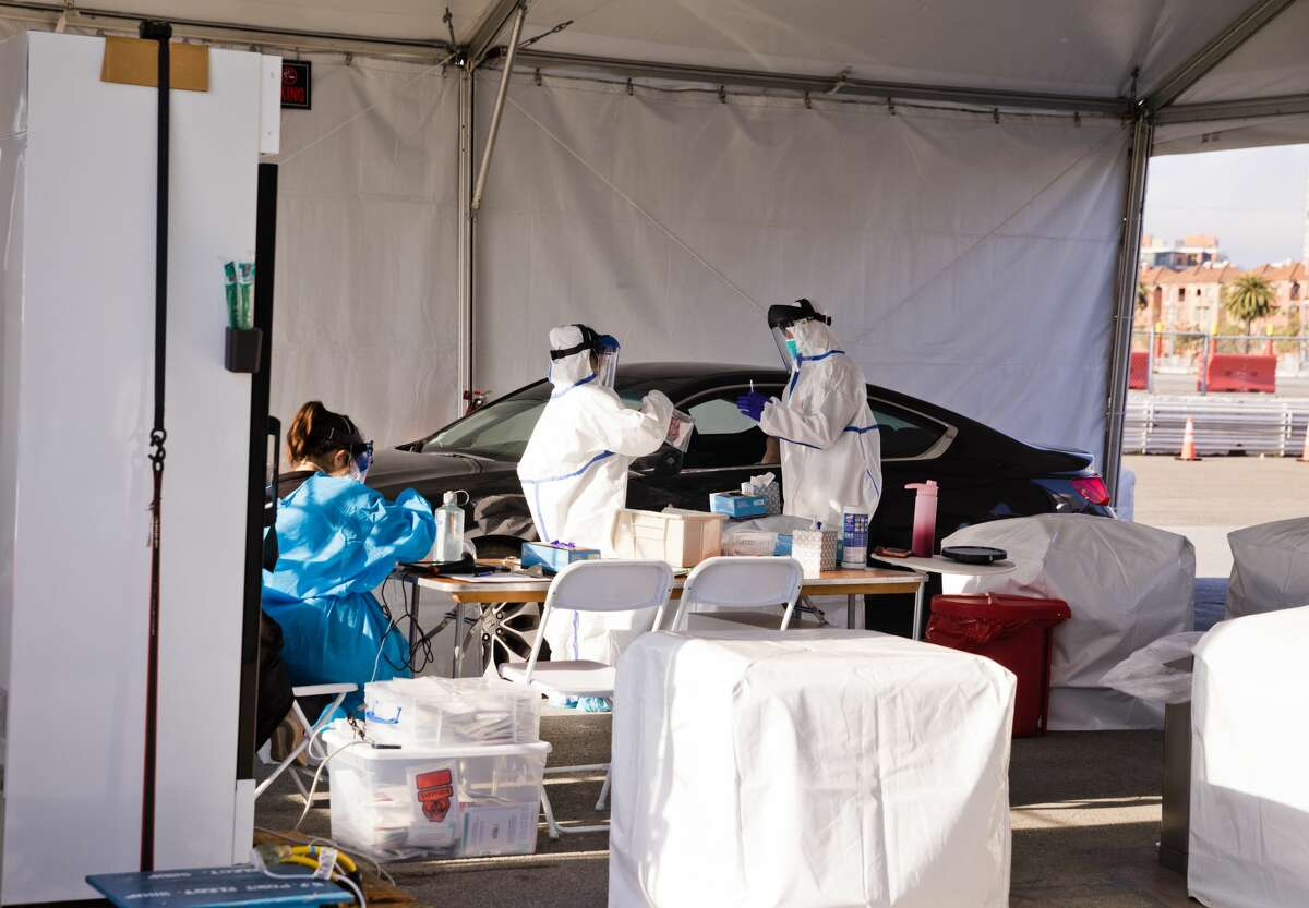The city of San Francisco opened a COVID-19 testing center on Pier 30/32 in San Francisco on May 5, 2020.