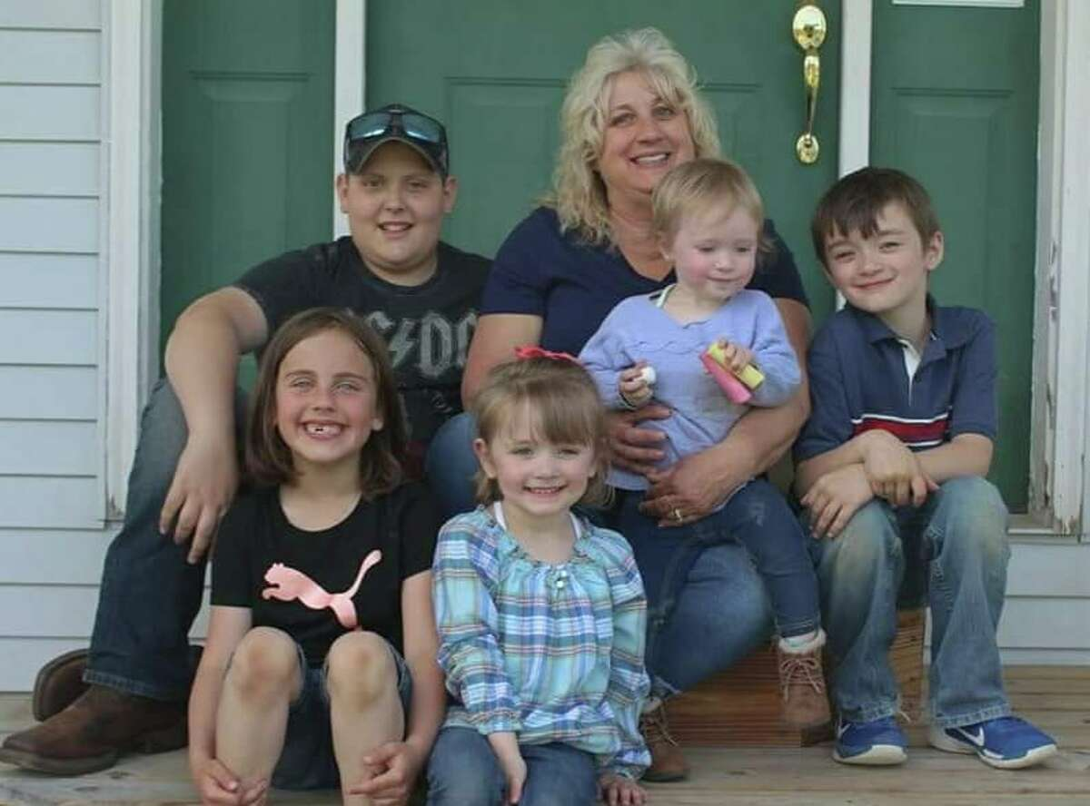 """""""Our beautiful mom with 5 of her 6 grandchildren."""" Photo submitted by Amanda Welling O'Neil"""