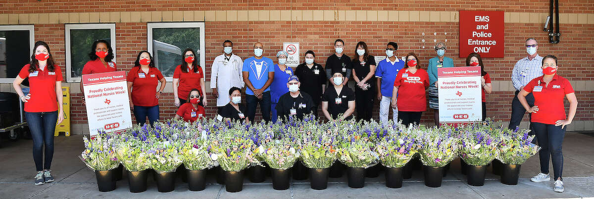 In honor of National Nurses Day on Wednesday, May 6, Houston area H-E-B Partners (employees) celebrated by making a special delivery to the frontline workers at Harris Health's Ben Taub Hospital and Texas Children's Hospital.