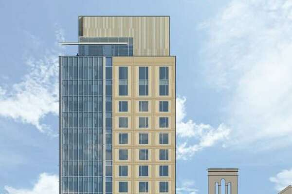 Plans call for tearing down the rectory at St. Mary's Catholic Church and building a 14-story hotel in downtown San Antonio.