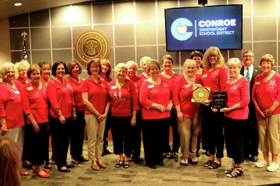 Pictured here are Assistance League of Montgomery County volunteers receiving the 2018 Patrons Influencing Education Award at a CISD School Board meeting. The Assistance League of Montgomery County is now accepting donations Monday, Wednesday and Fridays 10 am-noon. Donations must be in good condition and clean. As they practice social distancing, your donation may be requested to go to a staging area. Call 936-760-1151 for large items before dropping off. Photo: Courtesy Photo / Courtesy Photo
