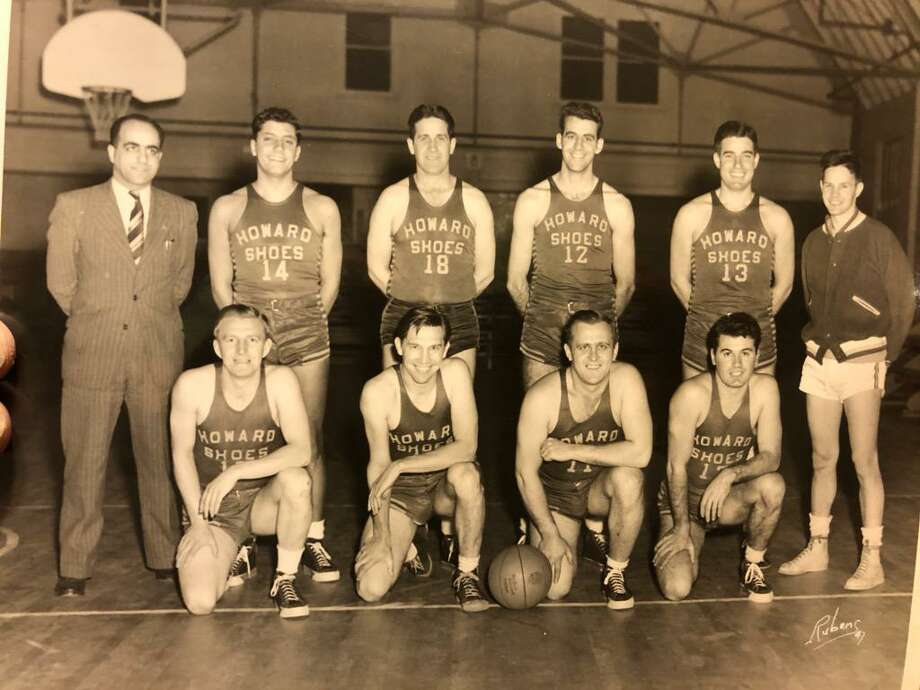 Last week, Carmine and Michelle Matrascia brought some vintage photographs of a basketball team that Howard's sponsored in the 1940s. The building was recently purchased by gallery owner John Noelke. Carmine's father, Patsy Matrascia was the team mnager. Among the players were Frank Beauty, Sam Ponzi, Ed Sullivan, Frank Barlock and Ed Krulicki, who are shown in a 1947 photo of the team. Photo: Contributed Photo /