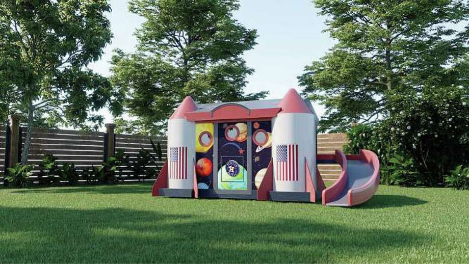 The Mission Control playhouse is being built by First America Homes, the home-building division of The Signorelli Co.