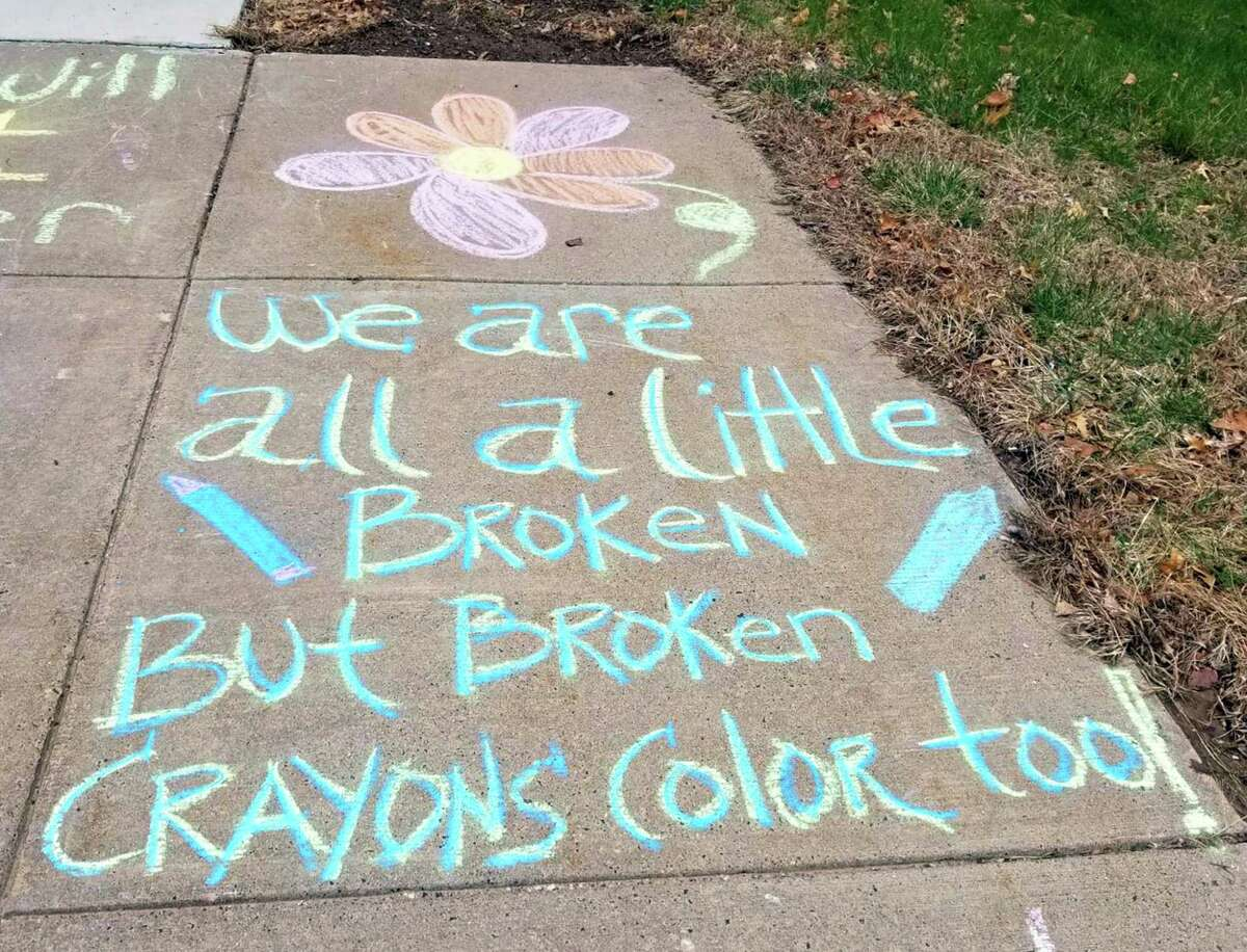 """""""It will be over soon"""" are among sentiments expressed by teen girls at the state Department of Children and Families Albert J. Solnit Center in Middletown. They also took part in a heart project to thank first responders, hanging their work at the state office building in Hartford."""