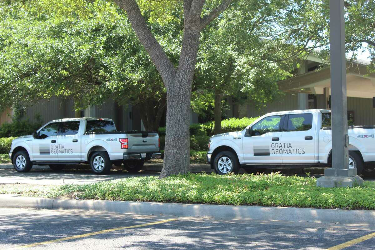 Surveyors from Gratia Geomatics, a Spring-based surveying firm, worked at the Grogan's Mill shopping center daily from April 23 through mid-May doing intensive mapping and data collection for The Woodlands Development Company, a subsidiary of the Howard Hughes Corp.