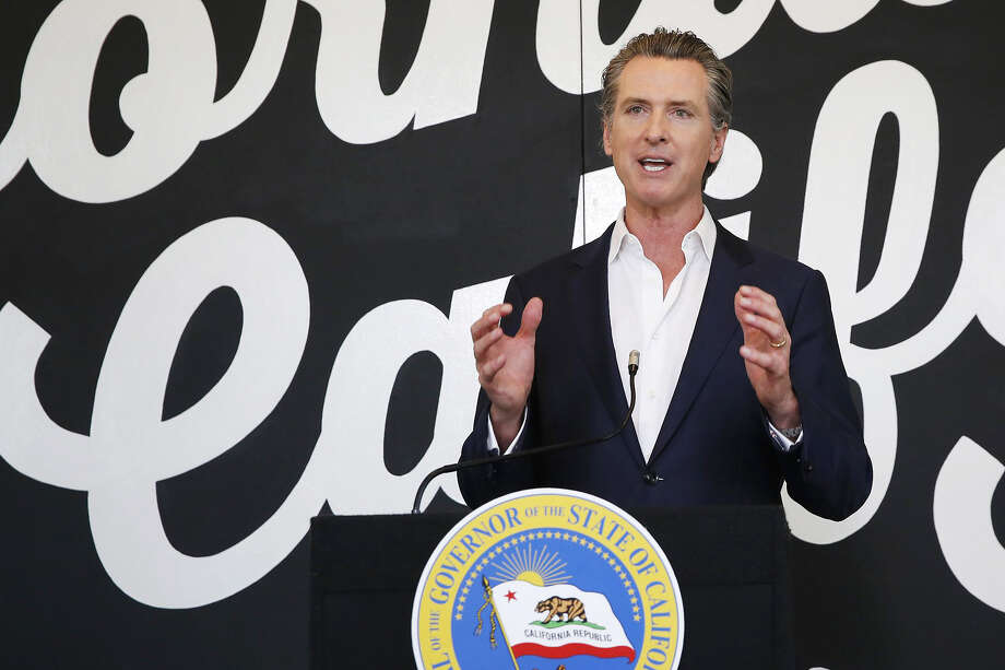 FILE - In this May 5, 2020 file photo, California Gov. Gavin Newsom discusses his plan for the gradual reopening of California businesses during a news conference at the Display California store in Sacramento, Calif. Photo: Rich Pedroncelli, Associated Press