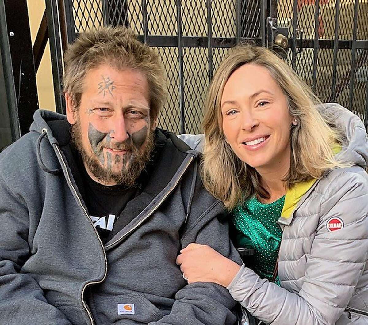 Ian Carrier and his sister, April Slone, in San Francisco in October, 2019.