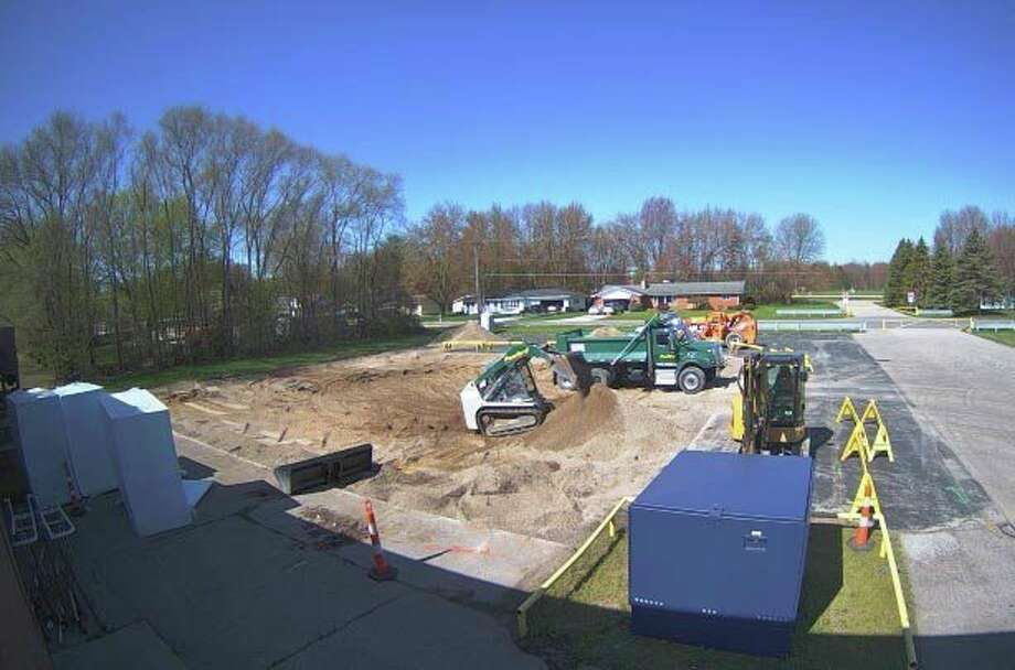 Pictured is the construction siteofHemlock Area STEM Center. (Photo provided)