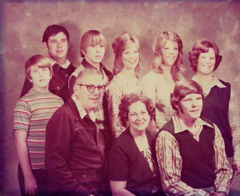 Bill and Toni (Perry) Briggs pose with their seven children. Back row, from left, Gary, Jeff, Carol, Beth and Sharon. Also pictured are children, Mark, standing and Mike, seated. (Photo provided)