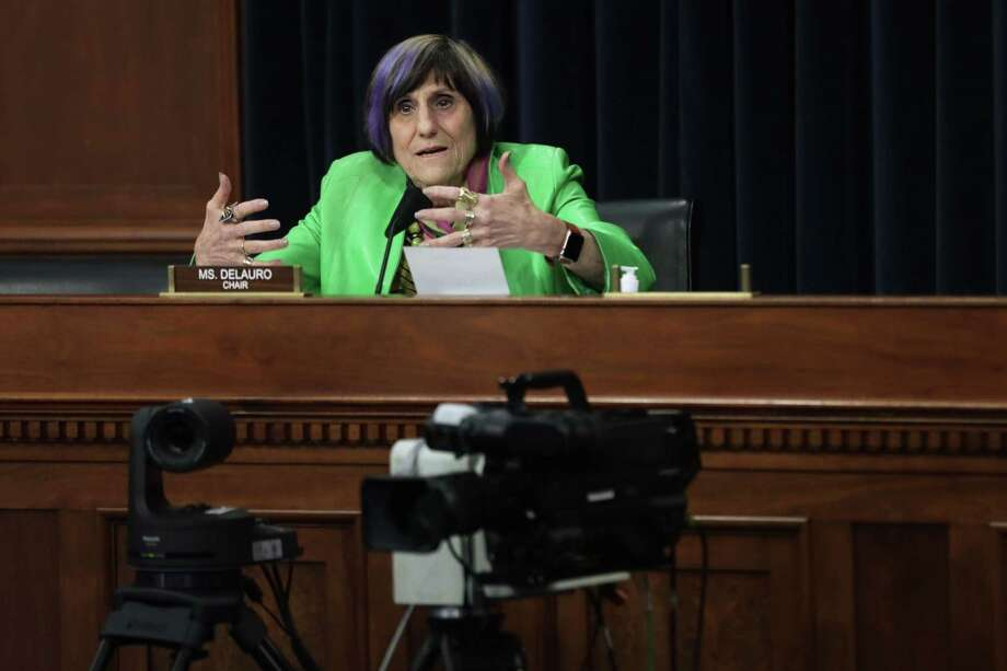 Subcommittee Chairwoman Rep. Rosa DeLauro, D-3, speaks during a hearing on COVID-19 response before the Subcommittee on the Departments of Labor, Health and Human Services, Education, and Related Agencies of the House Appropriations Committee on May 6 on Capitol Hill in Washington, DC. Photo: Alex Wong / Getty Images / 2020 Getty Images
