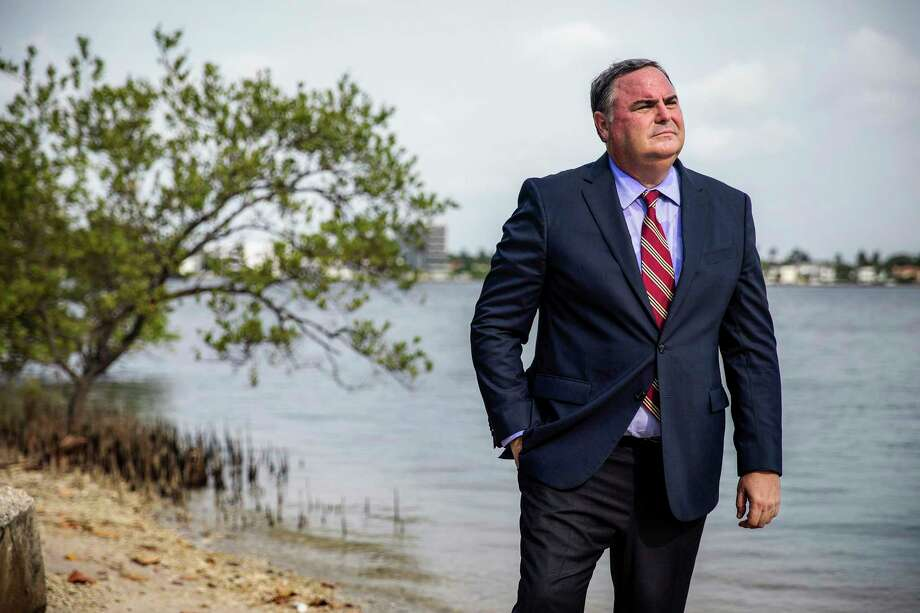 Attorney Reginald Stambaugh stands along the waterway near Mar-a-Lago in Florida. Photo: Photo For The Washington Post By Scott McIntyre / Scott McIntyre