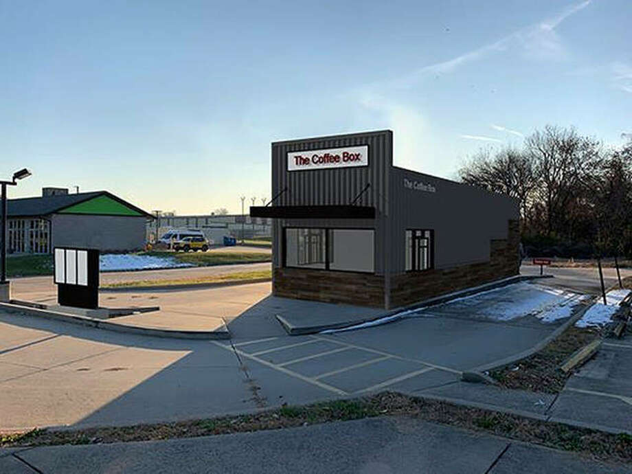 The rendering shown here is what The first Coffee Box location will eventually look like. Photo: Courtesy Of The Coffee Box