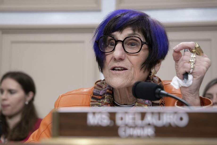 U.S. Rep. Rosa DeLauro (D-CT) speaks during testimony by HHS Secretary Alex Azar on February 26, 2020 in Washington, DC. Photo: Tasos Katopodis / Getty Images / 2020 Getty Images