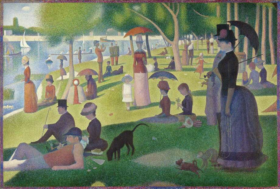 """Artist Georges Seurat's painting titled: """"La Grande Jatte"""" 1884, oil on canvas is part of the lecture presenter ArtScapades 2019-20 series """"Road to Modern Art,"""" that was held on Monday, May 18, from 7 to 8 p.m. Photo: Contributed Photo"""