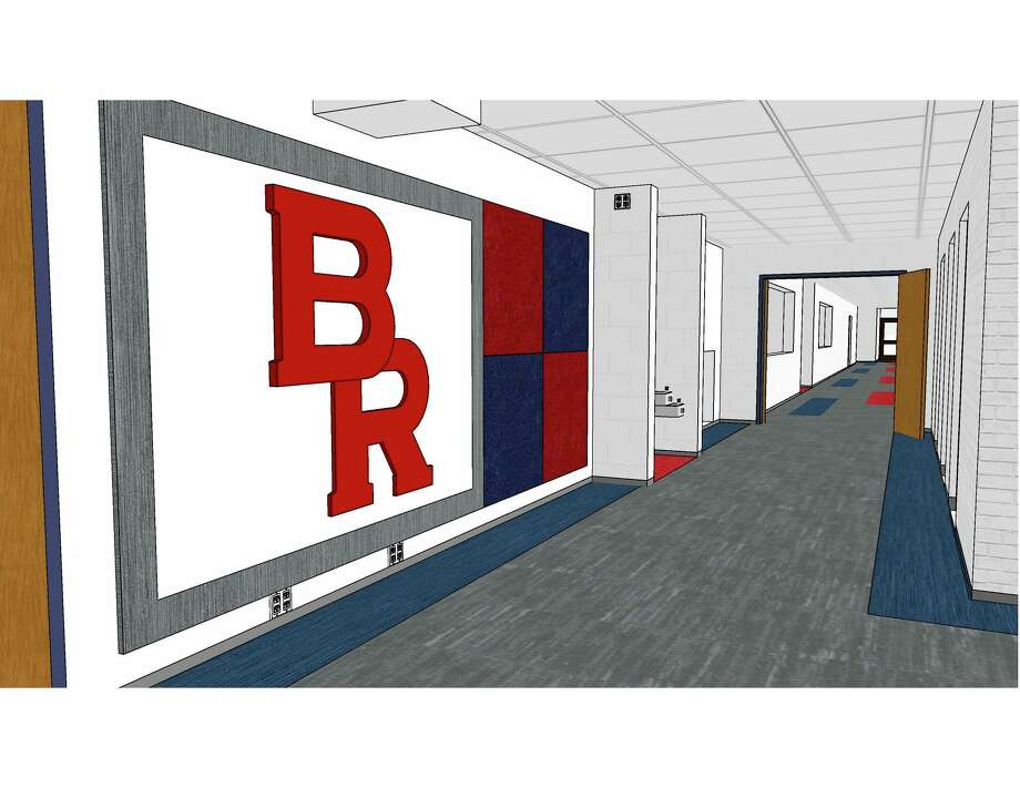 Pictured is a rendering for the entryway at Riverview Elementary School. This, along with other school remodeling projects, will begin today. (Courtesy photo)
