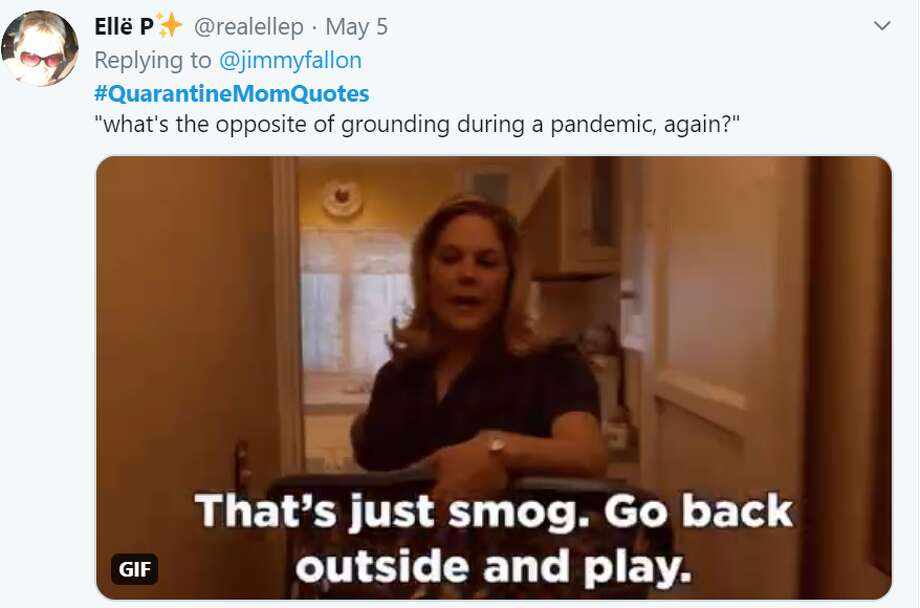 These #QuarantineMomQuotes from Twitter followers highlight some funny things moms have said during quarantine. Photo: Screenshot Twitter