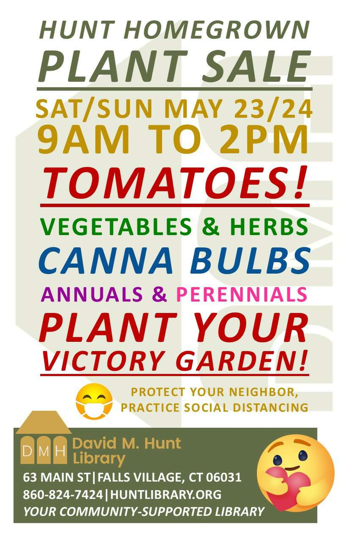The Hunt Library is holding a Homegrown Victory Garden Plant Sale May 23-24.