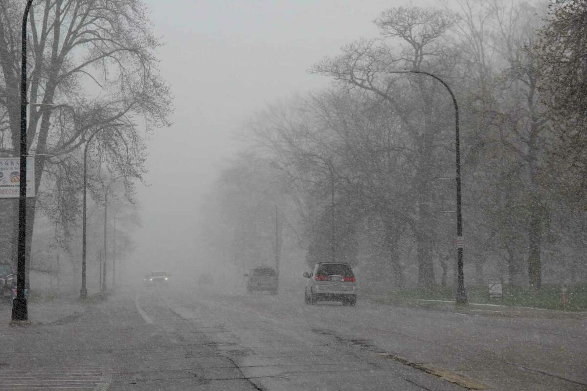 Snow and hail fell down over Huron County on Friday making driving a bit of a challenge. The snow came as the polar vortex moved south, bringing low temperatures along with snow. (Robert Creenan/Huron Daily Tribune)