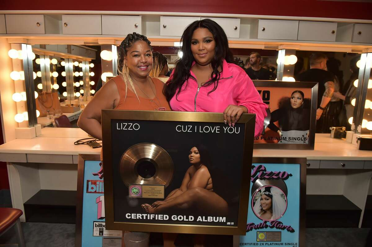 Lizzo and her mother Shari Johnson-Jefferson attend Lizzo's plaque presentation at Radio City Music Hall on September 24, 2019 in New York City.