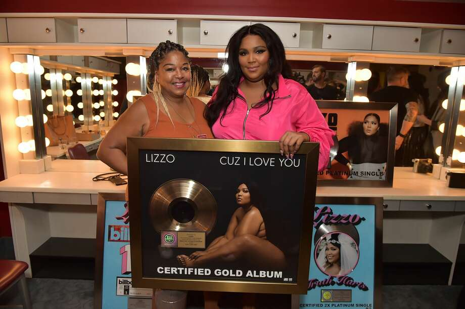 Lizzo and her mother Shari Johnson-Jefferson attend Lizzo's plaque presentation at Radio City Music Hall on September 24, 2019 in New York City. Photo: Theo Wargo/Getty Images For Atlantic Record / 2019 Getty Images