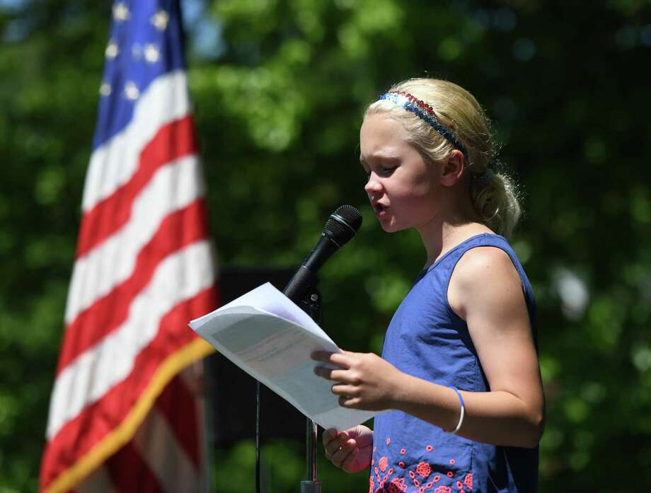 Photos from the 2019 Old Greenwich Memorial Day Parade, presented by the Sound Beach Volunteer Fire Department, in Old Greenwich, Conn. Monday, May 27, 2019. Several local groups and businesses marched in the parade alongside firefighters, police officers and EMS. The parade concluded with a ceremony of remembrance at Binney Park. Photo: File / Tyler Sizemore / Hearst Connecticut Media / Greenwich Time
