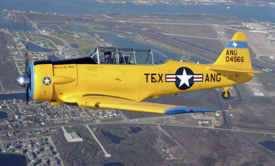 The North American AT-6/SNJ was nicknamed the Texan because Dallas became the central manufacturing city of the aircraft during WWII. Photo: Lone Star Flight Museum