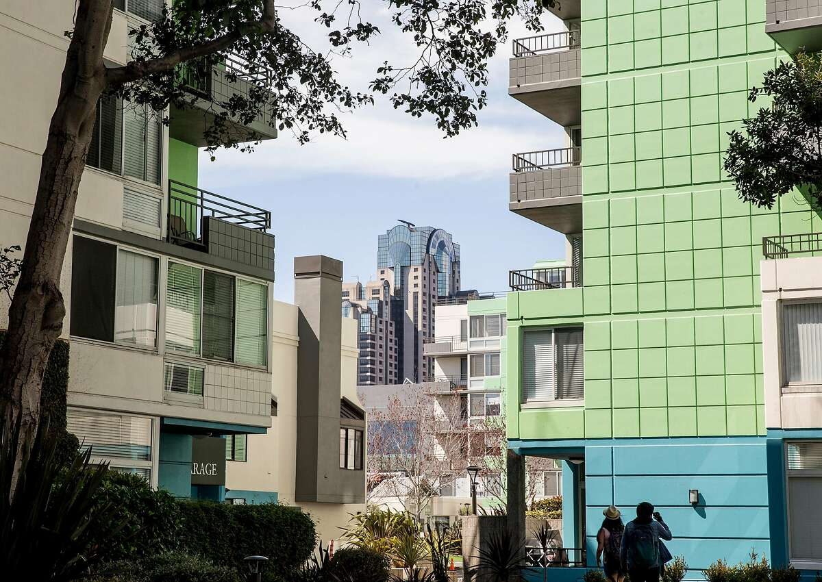 SoMa Square Complex, a high density apartment, near Folsom and 3rd streets in San Francisco, Calif. is seen Saturday, Sept. 22, 2018. Complexes like this one align with the housing views brought forward by YIMBY Action.