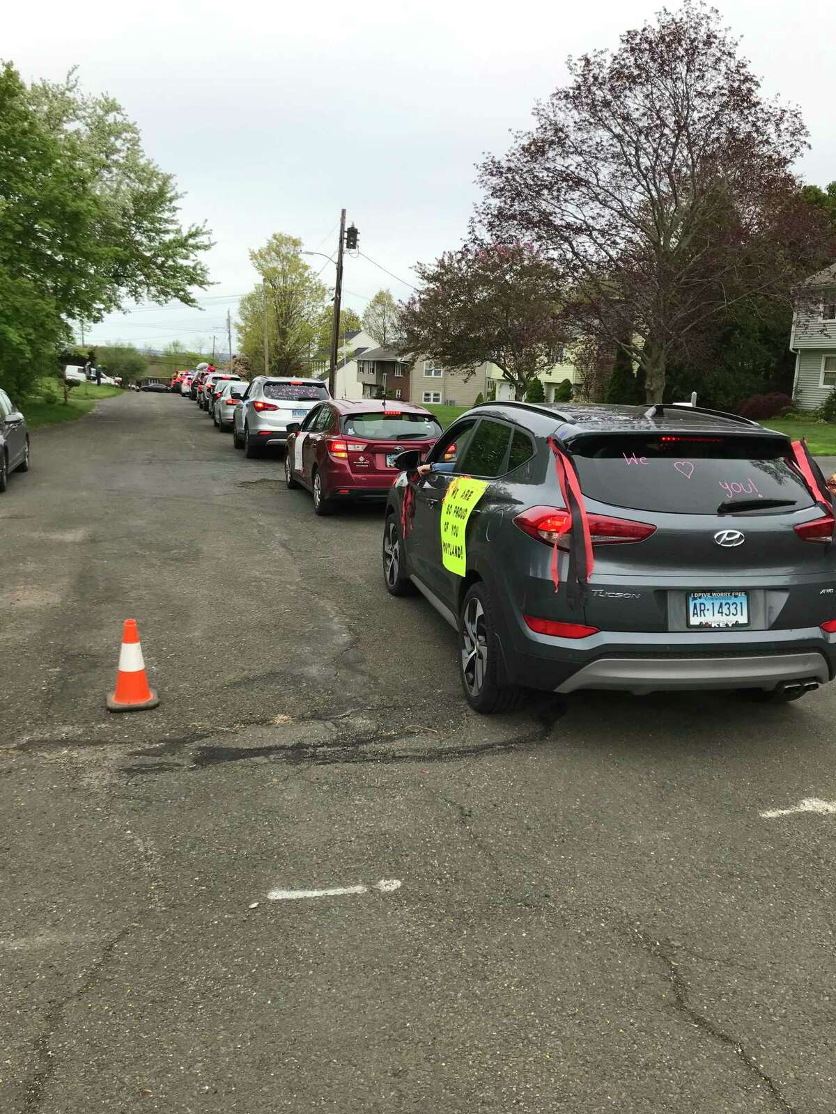 Escorted by police and trailed by two fire engines, dozens upon dozens of Portland teachers criss-crossed their way through town as part of an effort to renew their links to the students they last saw on March 12.