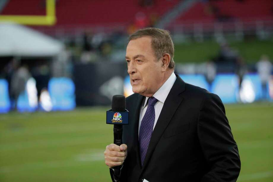 Al Michaels, play-by-play voice for NBC's Sunday Night Football works on the sideline before an NFL football game between the Los Angeles Rams and the Seattle Seahawks Sunday, Dec. 8, 2019, in Los Angeles. (AP Photo/Marcio Jose Sanchez) Photo: Marcio Jose Sanchez / AP / Copyright 2019 The Associated Press. All rights reserved