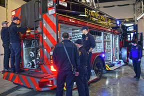 Firefighters flocked to check out the new arrival in February when the city took delivery of its first new fire truck in almost 20 years.