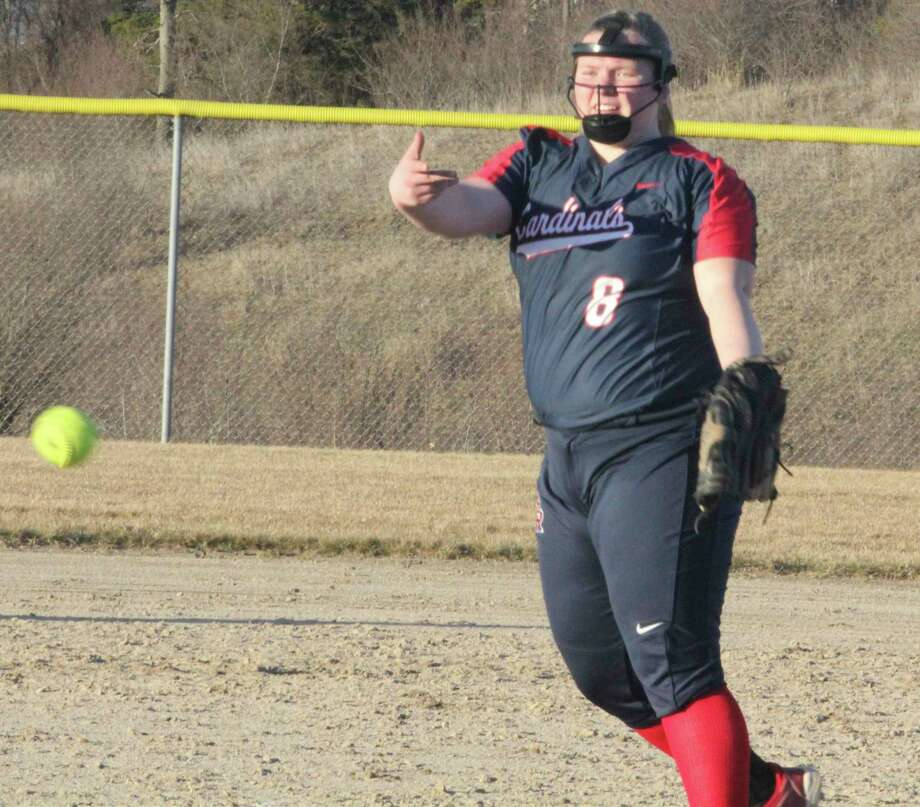 Alissa Ruggles delivers a pitch during the 2019 season. (Pioneer file photo)