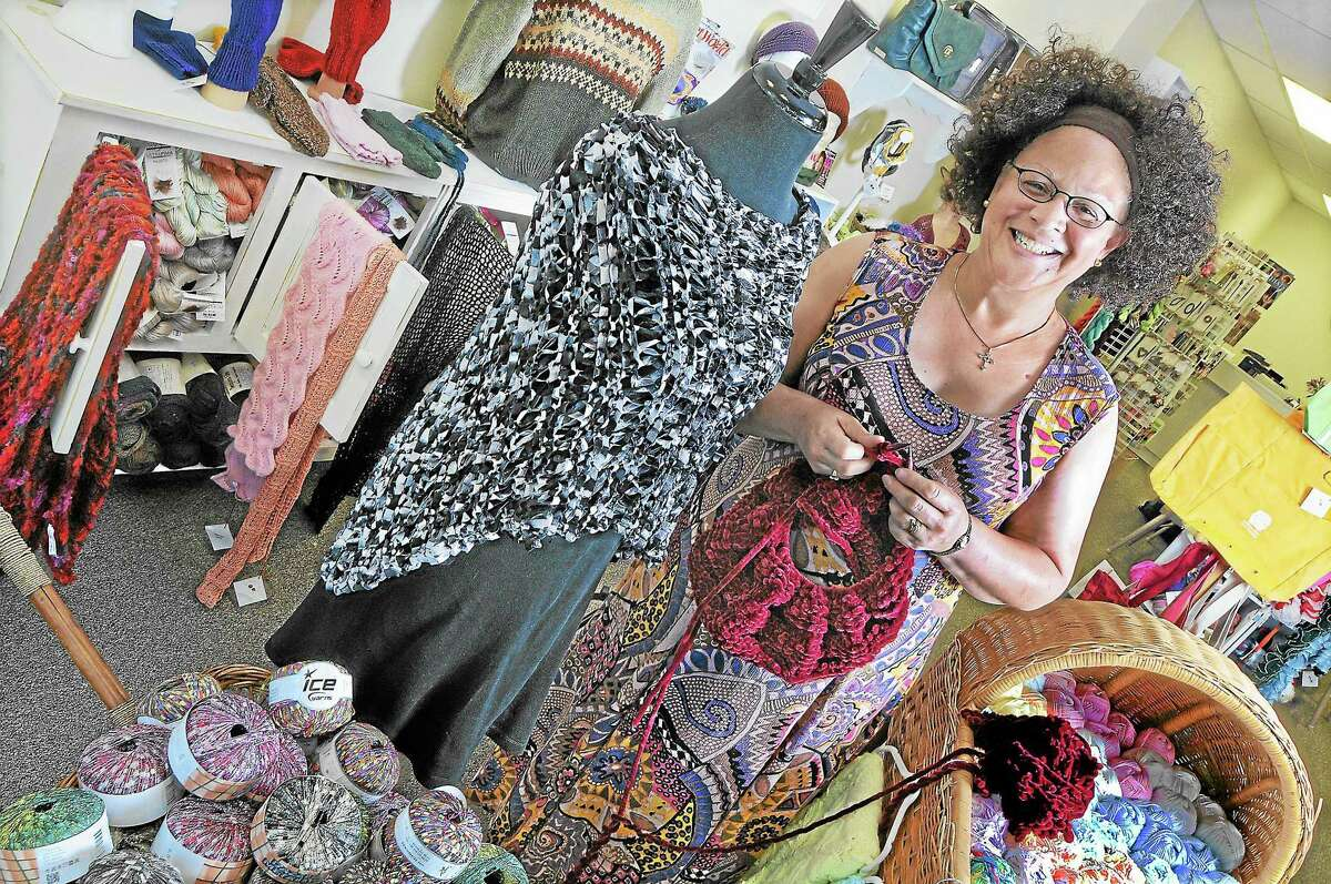 Pamela Steele, owner of Pamela Roose Specialty Hand Knits & Yarn on Court Street in Middletown, is shown in this archive picture.