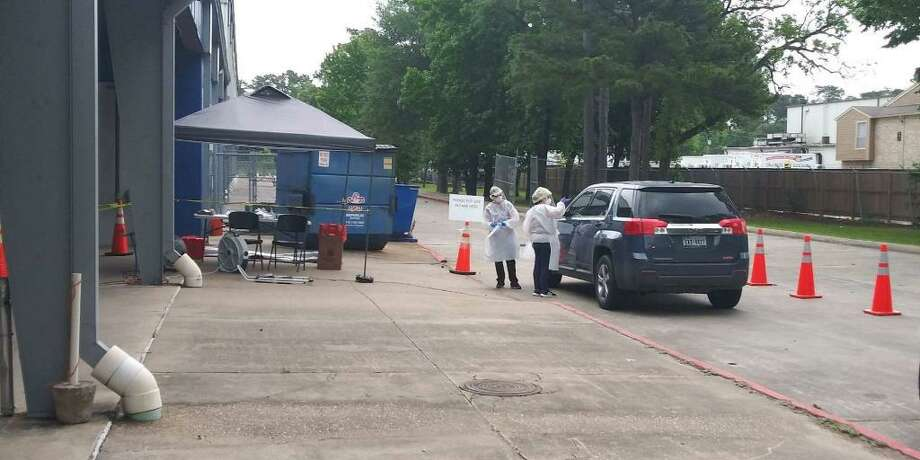 The Precinct 4 mobile testing site extended their time in Humble to Saturday, May 9 and have added two additional locations. Their goal as a mobile site is to prevent testing deserts and offer their services as widely as possible throughout the precinct. Photo: Courtesy Of Harris County Public Health / Courtesy Of Harris County Public Health