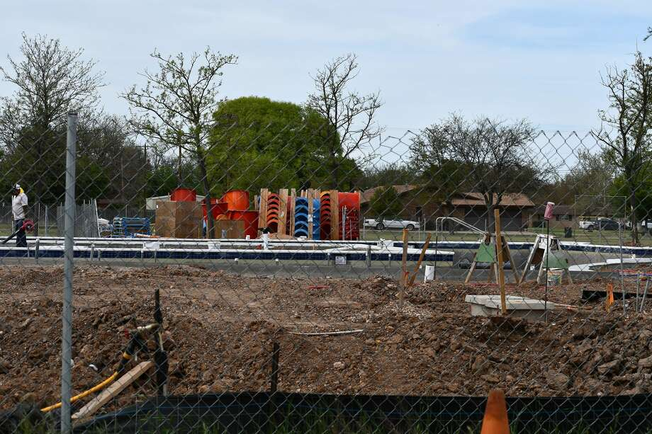 Construction is still on-going at the new aquatic center in Plainview. Photo: Nathan Giese/Planview Herald