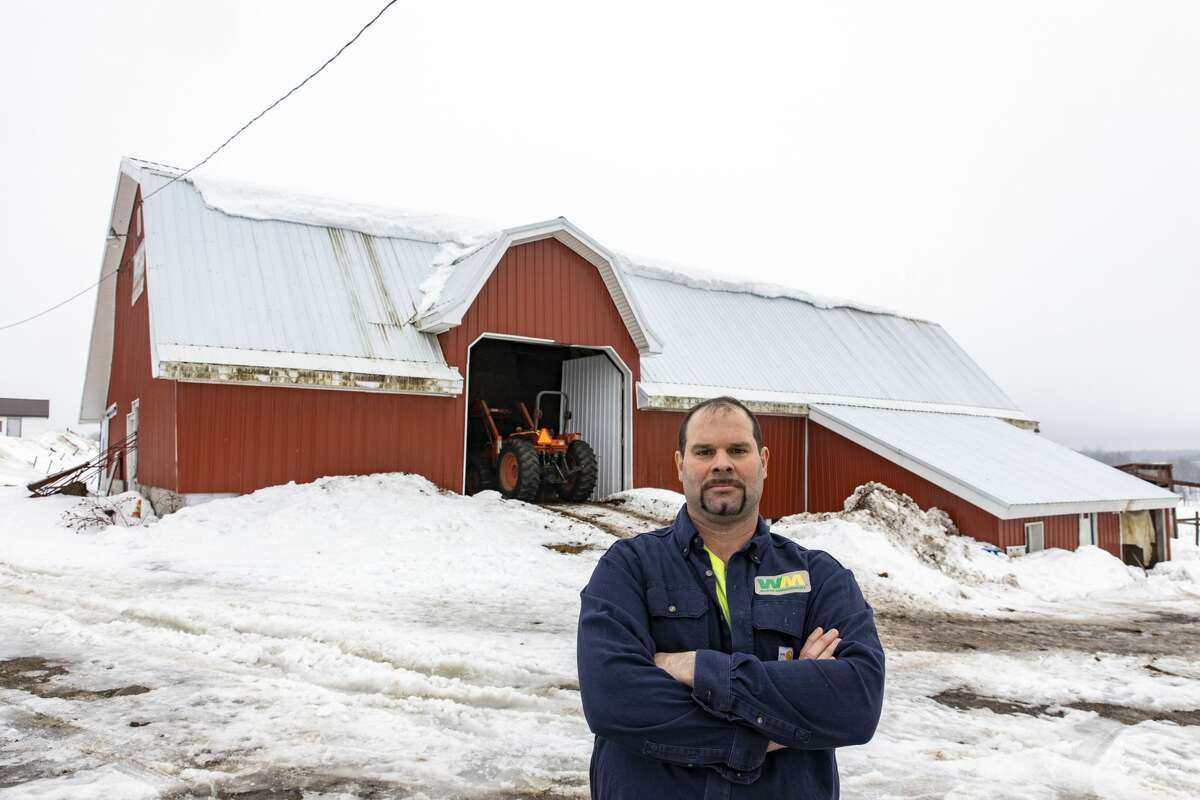Brian Sweeney, who took over his parents' Boonville farm after it lost cows, says the state doesn't lose road salt cases because it could not afford the resulting liability statewide. (Photo by Mike Lynch / Adirondack Explorer)