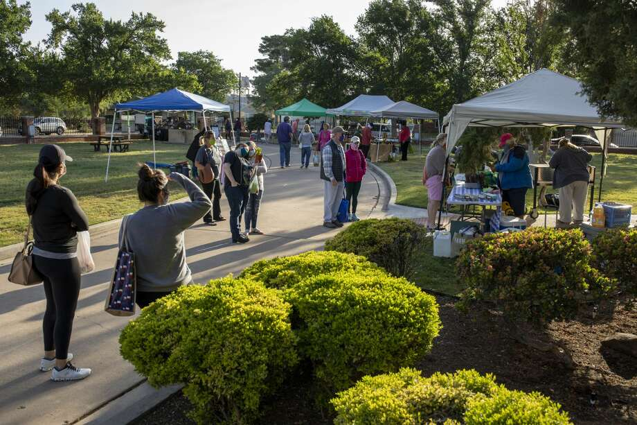 Scenes from the Midland Downtown Farmer's Market on Saturday, May 9, 2020 at the Museum of the Southwest. Jacy Lewis/Reporter-Telegram Photo: Jacy Lewis/Reporter-Telegram