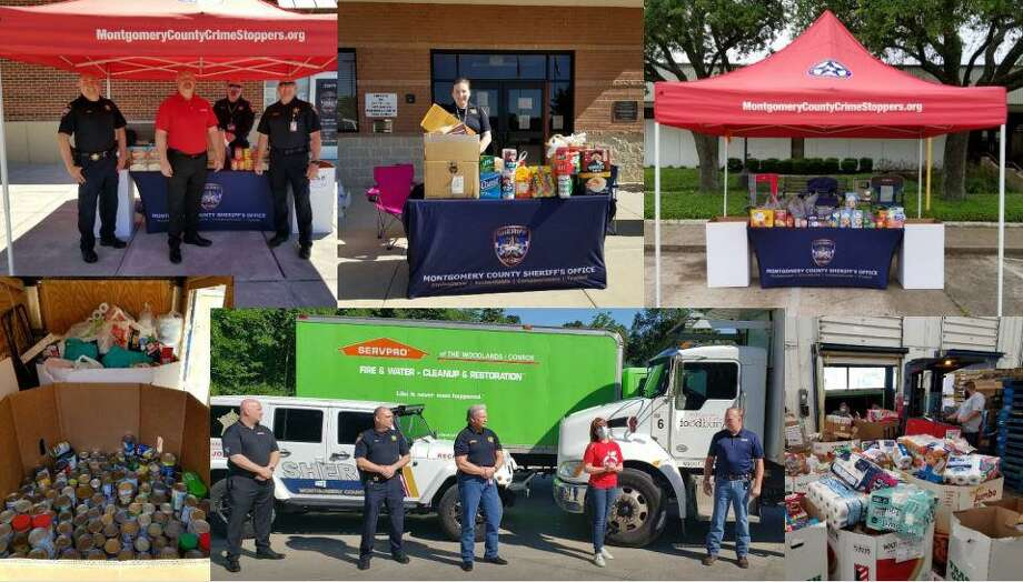 The Montgomery County Sheriff's Office reported more than 8 tons of donated food at its late April drives benefiting the Montgomery County Food Drive. Photo: Courtesy Of The Montgomery County Sheriff's Office