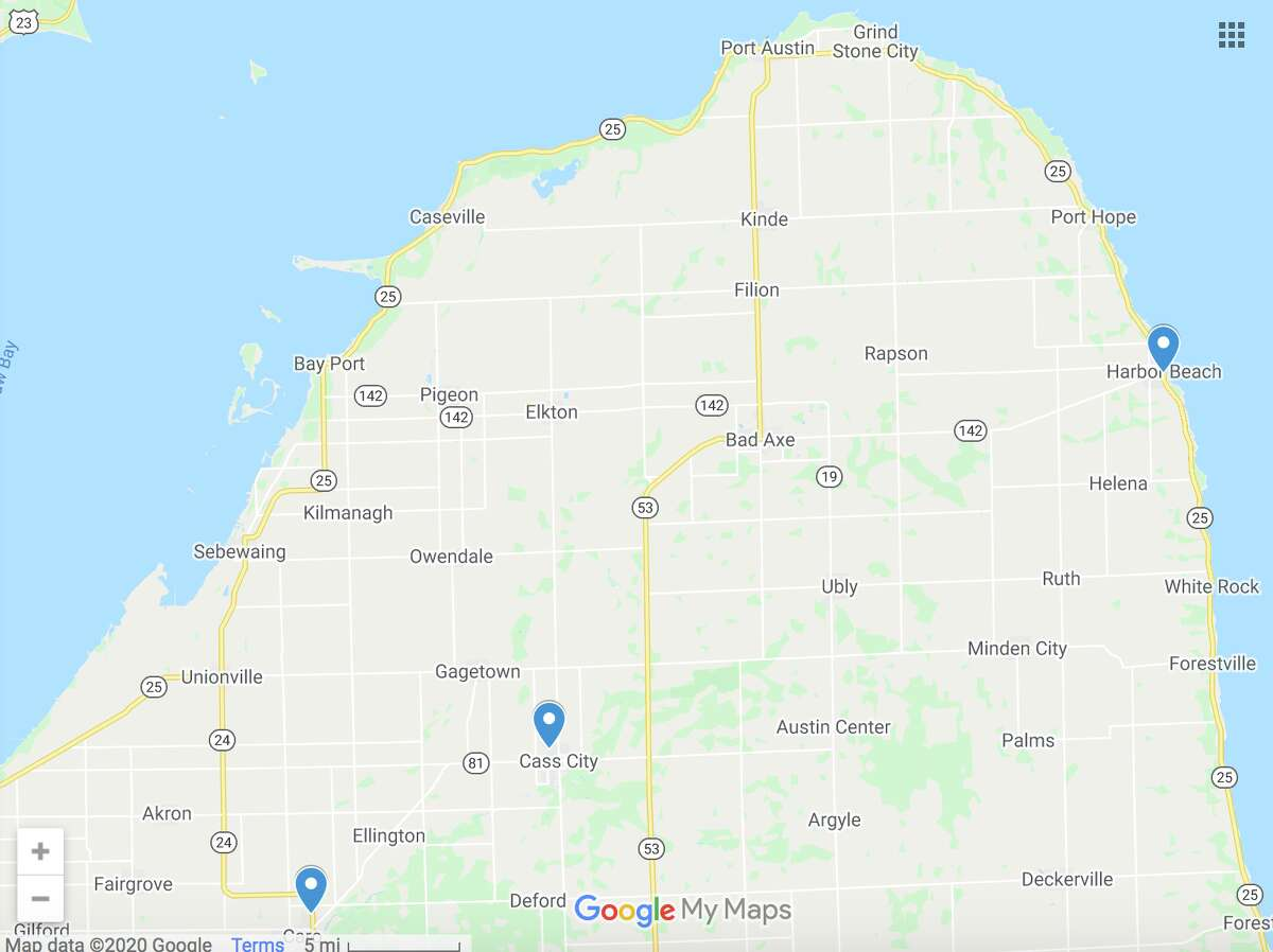 Harbor Beach Community Hospital and Medilodge of Cass City were recently identified as coronavirus hotspots by the health department. Previously Tuscola County Medical Care Community in Caro was identified as a source of outbreak.