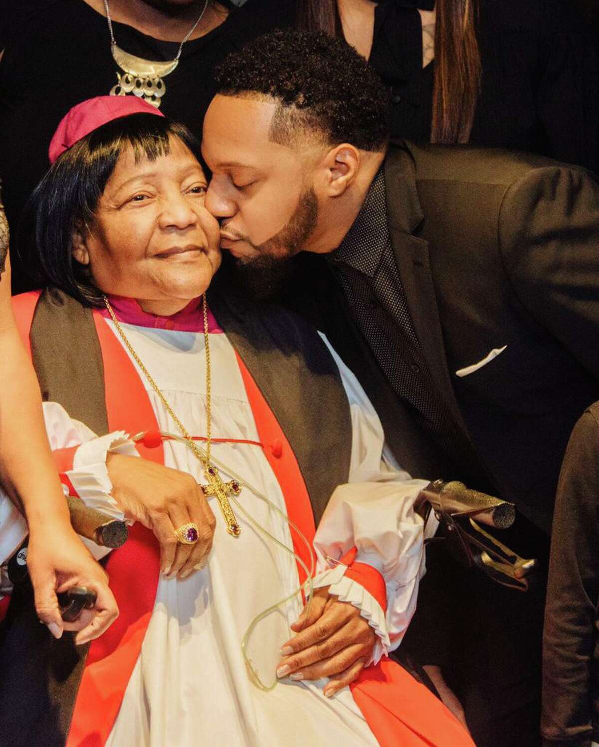 Deon Kipping and his grandmother, Bishop Sarah Kipping, 81, who he said passed away with the new coronavirus. Deon Kipping also battled the illness.
