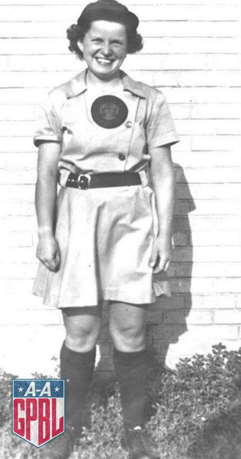 "Bridgeport-born Mary ""Prattie"" Pratt, former pitcher for the Rockford Peaches and Kenosha Comets, died earlier this week, according to the All-American Girls Professional Baseball League. She was 101. Photo: Contributed Photo / All-American Girls Professional Baseball League"