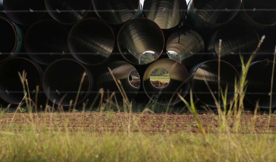 Kinder Morgan and its partners in the Permian Highway natural gas pipeline, EagleClaw Midstream and Altus Midstream, are continuing construction on the project, which is near completion on the western end near the Waha hub and is proceeding to the Hill Country. Photo: Eric Gay/Associated Press / Copyright 2019 The Associated Press. All rights reserved.