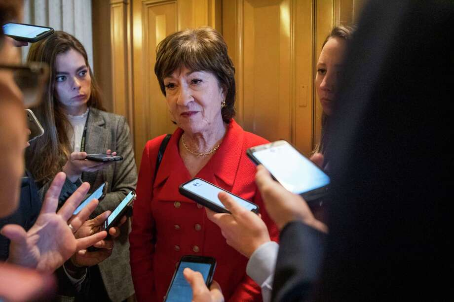 Sen. Susan Collins, R-Maine, faces a difficult re-election contest this year. Photo: Photo For The Washington Post By Amanda Voisard / Amanda Voisard