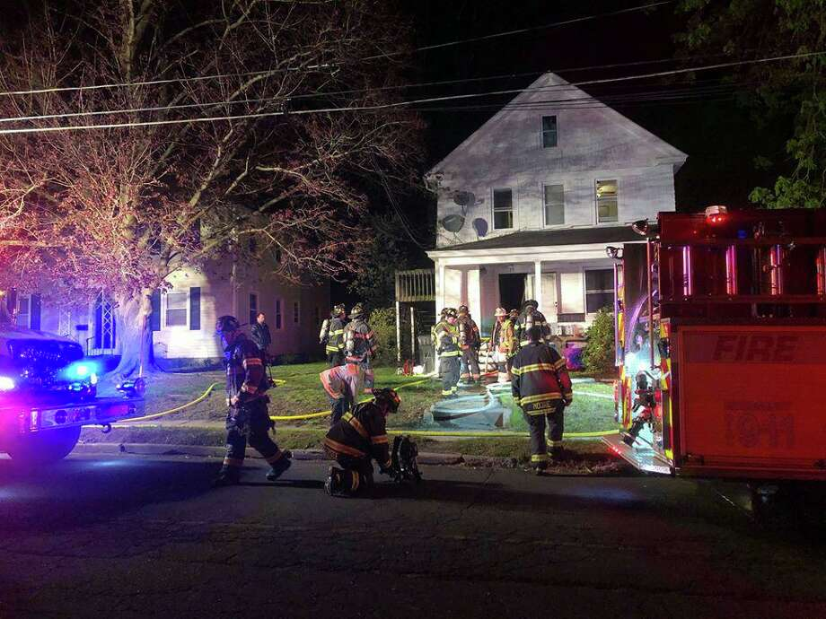 One woman is dead and a man is in critical condition after a fire in a Ninth Street house in Danbury early Sunday morning on May 10, 2020. Photo: Danbury Fire Department Photo