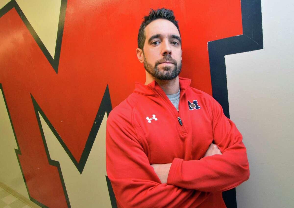Brien McMahon High School's new football coach Jeff Queiroga on Monday January 22, 2018 in Norwalk Conn.