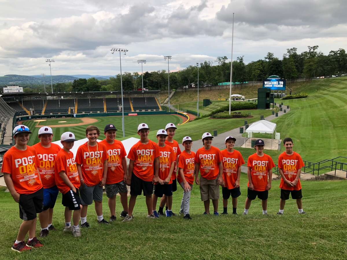 A thrilled Post Oak Little League upon its arrival to Lamade Stadium in Williamsport, Pa., for the 2018 Little League World Series.