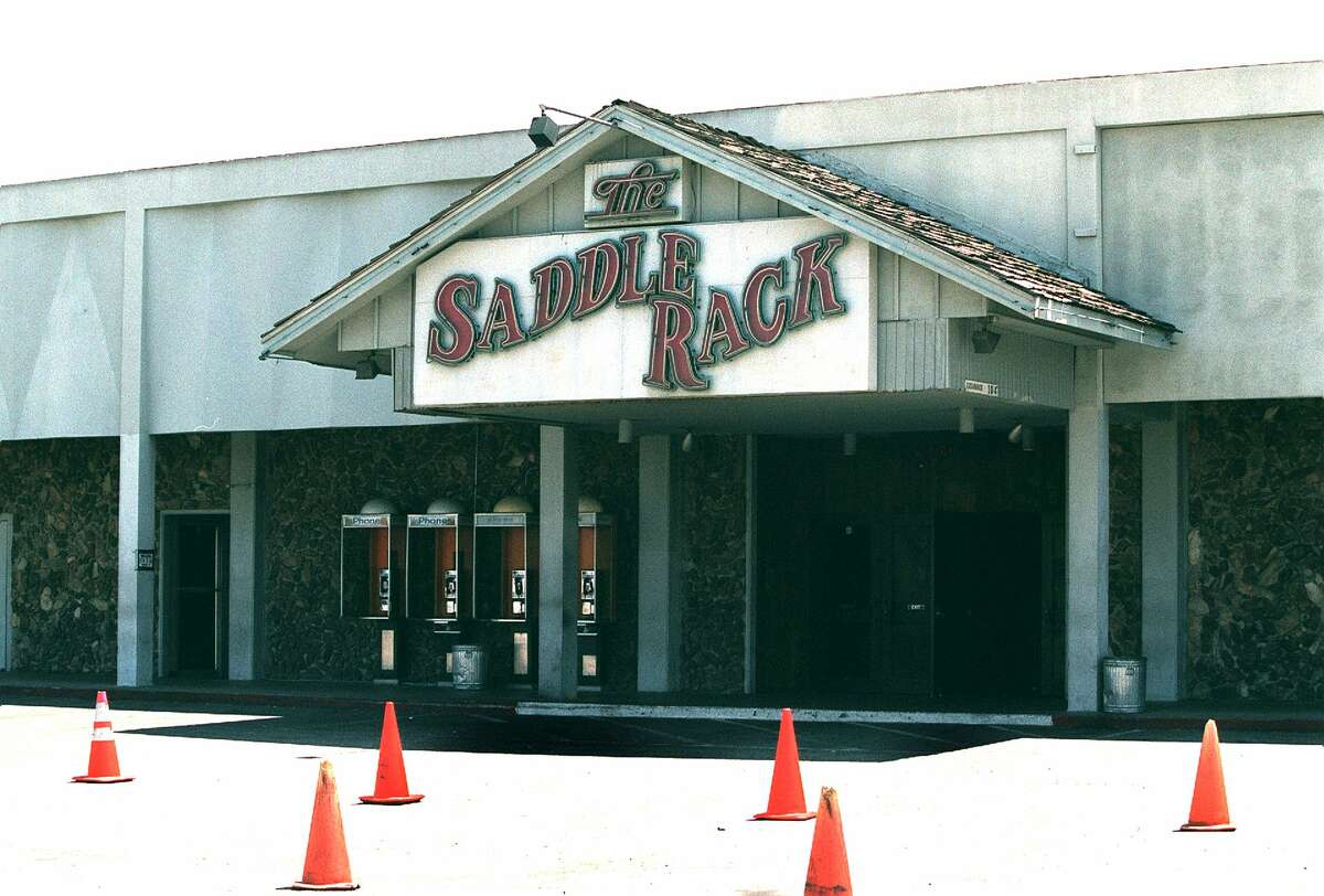 FILE - The Saddle Rack Bar in San Jose in 2001, just before its first closure.