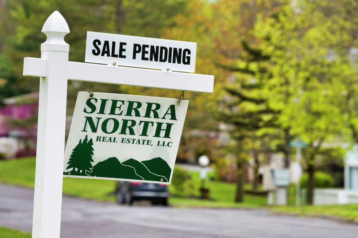 A home sale sign seen here on Sunday, May 10, 2020, in East Greenbush, N.Y. (Paul Buckowski/Times Union)