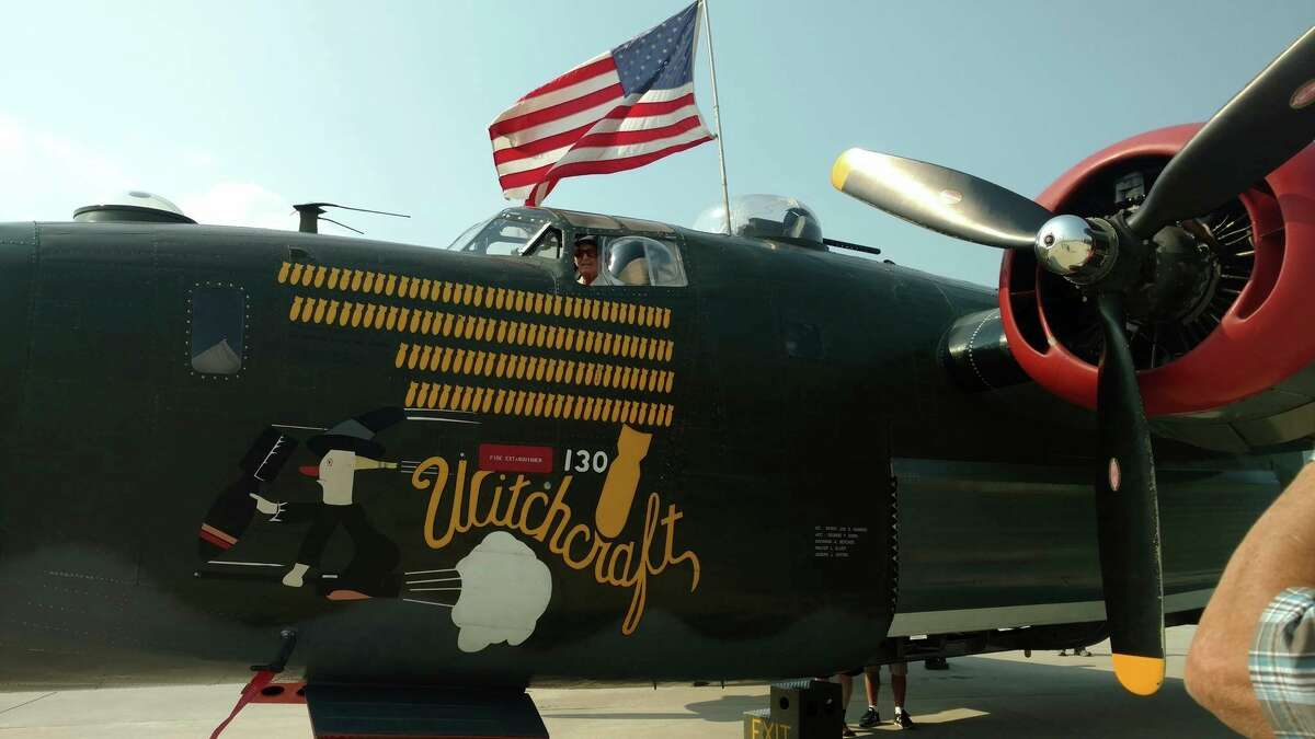 Frank Lopetrone sits in the last fully operational B-24 Liberator in 2016. Lopetrone served as flight engineer onboard a B-24 during WWII. (Courtesy Photo)