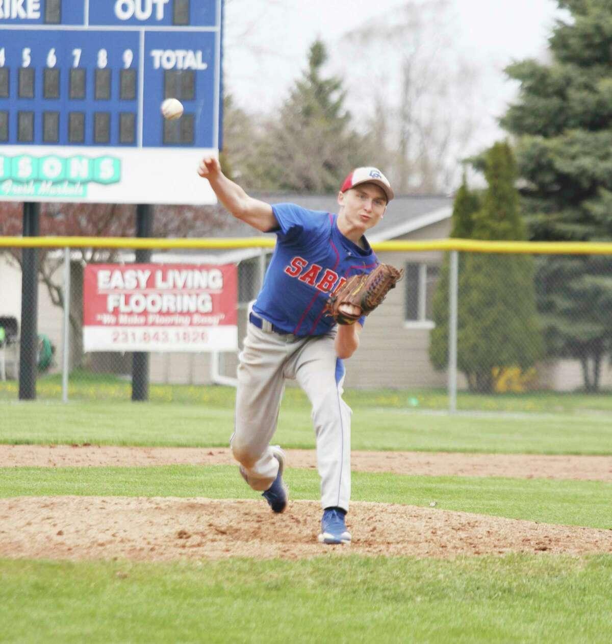 MCC junior Adam Pierce fires a pitch during a game last season. (News Advocate file photo)
