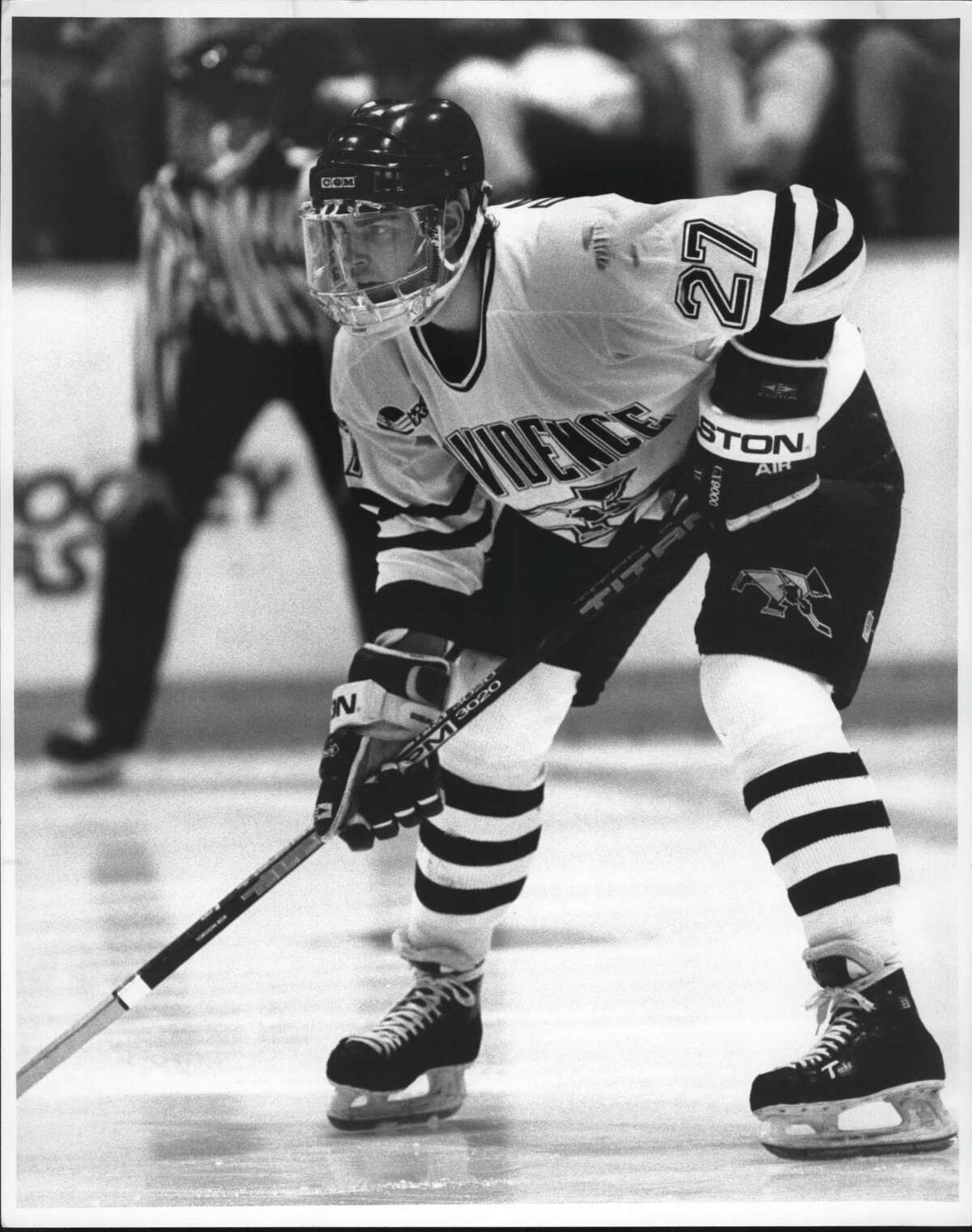 Providence College hockey player Craig Darby. November 01, 1991 (Thomas F. Maguire Jr./Times Union Archive)